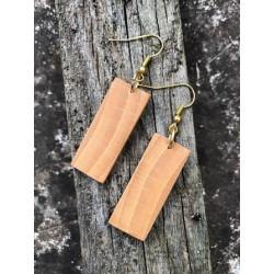 Leseni viseči uhani - BUKEV