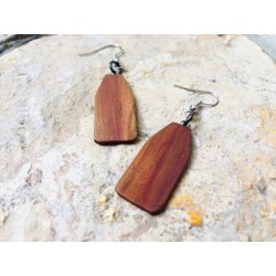 Leseni viseči uhani - SLIVA