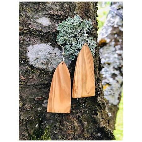 Leseni viseči uhani - OLJKA