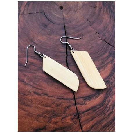 Leseni viseči uhani - FIGA